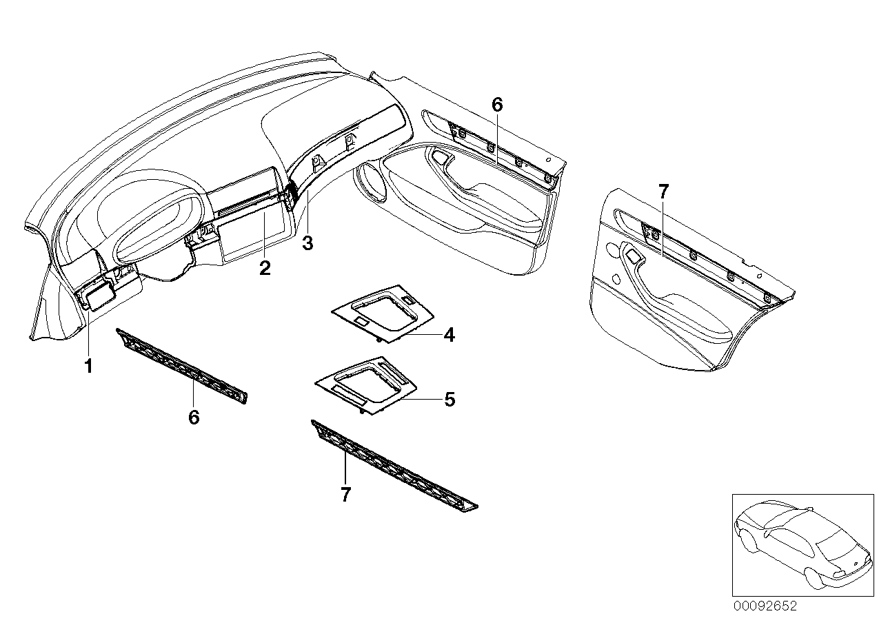 AM33 Retrof.,alumin. Decor Strips,titanium II-03_1354