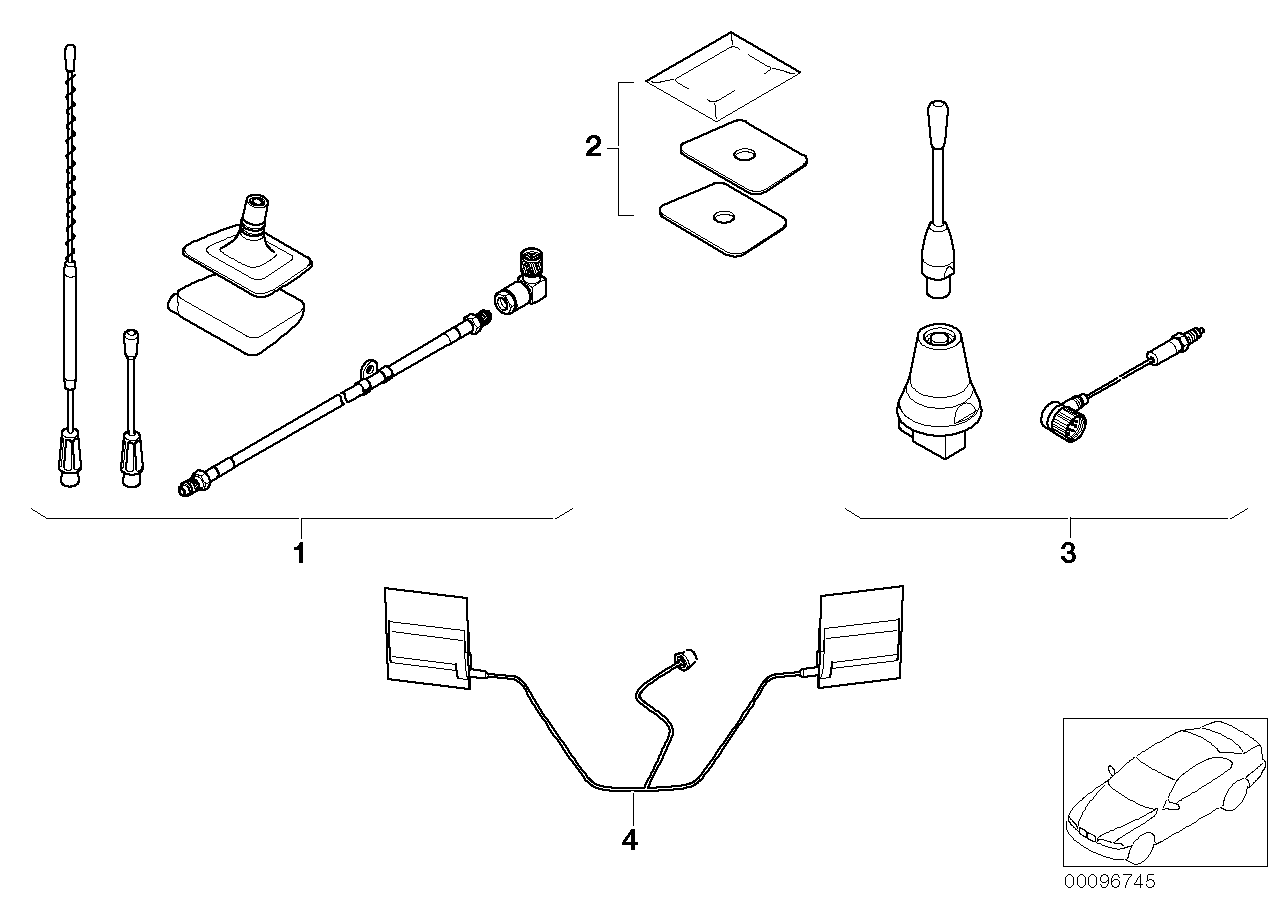AM33 Retrofit kit, teleph. antenna Dualband 03_3085