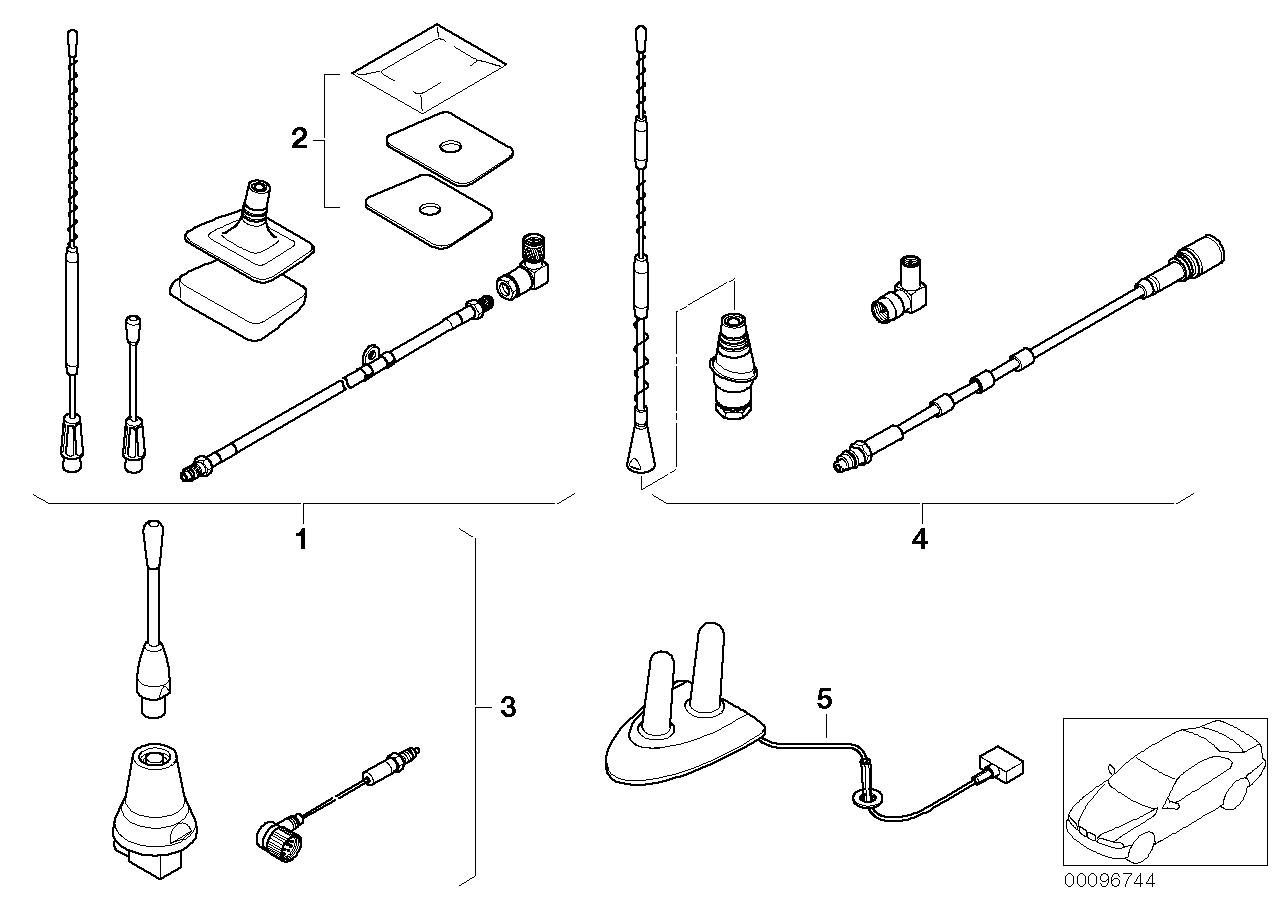 AM33 Retrofit kit, teleph. antenna Singleband 03_3089