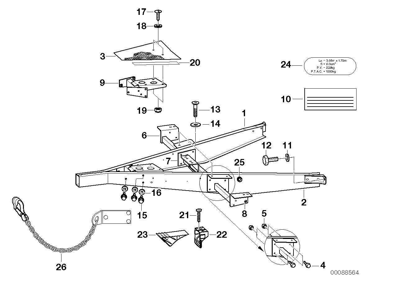 AM33 Trailer, Individual Parts, Towbar-03_3759