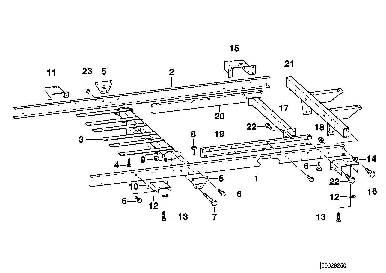 AM33 Trailer, individual parts, chassis frame 03_3784