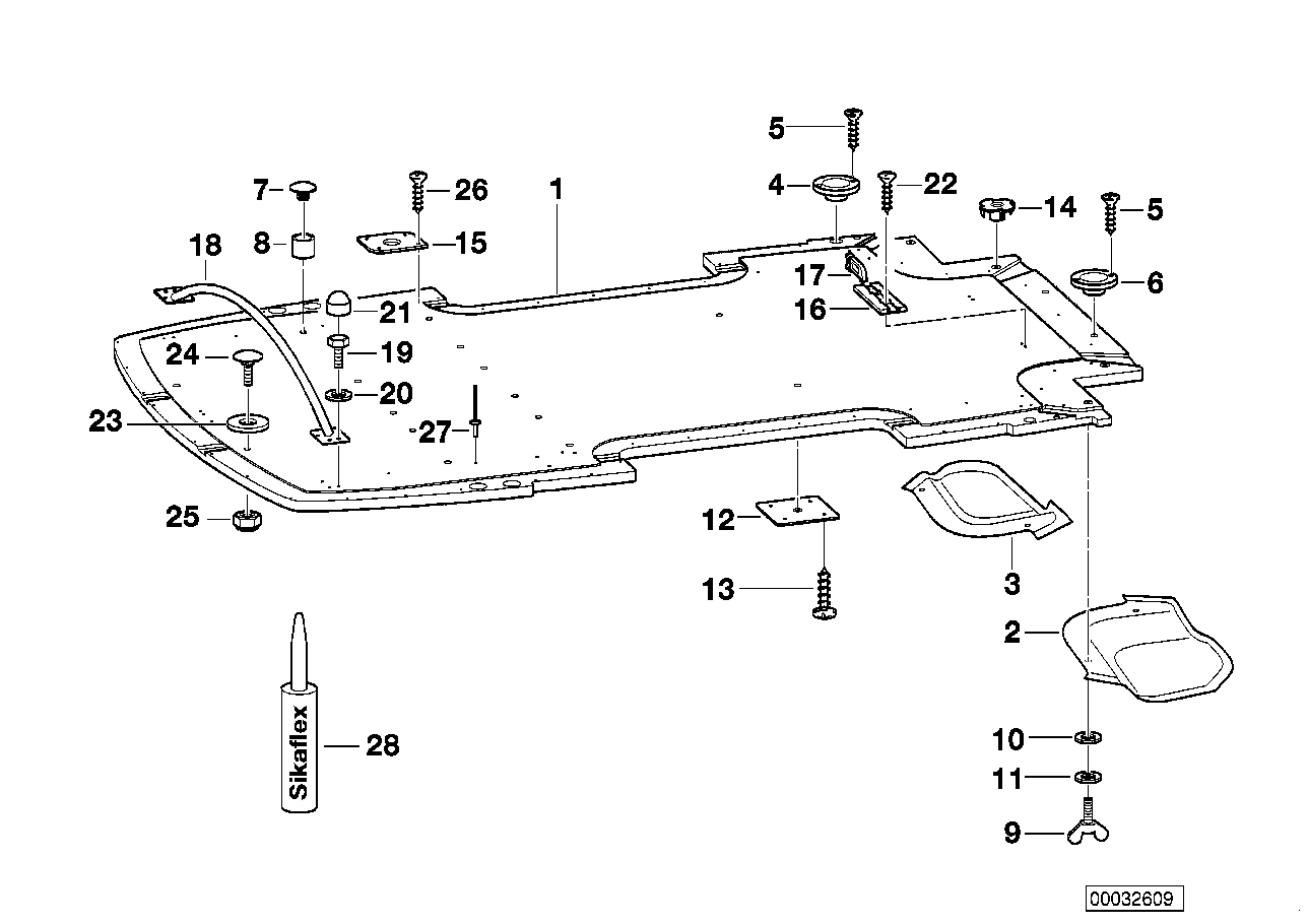 AM33 Trailer, indiv. parts, floor assy 03_3789