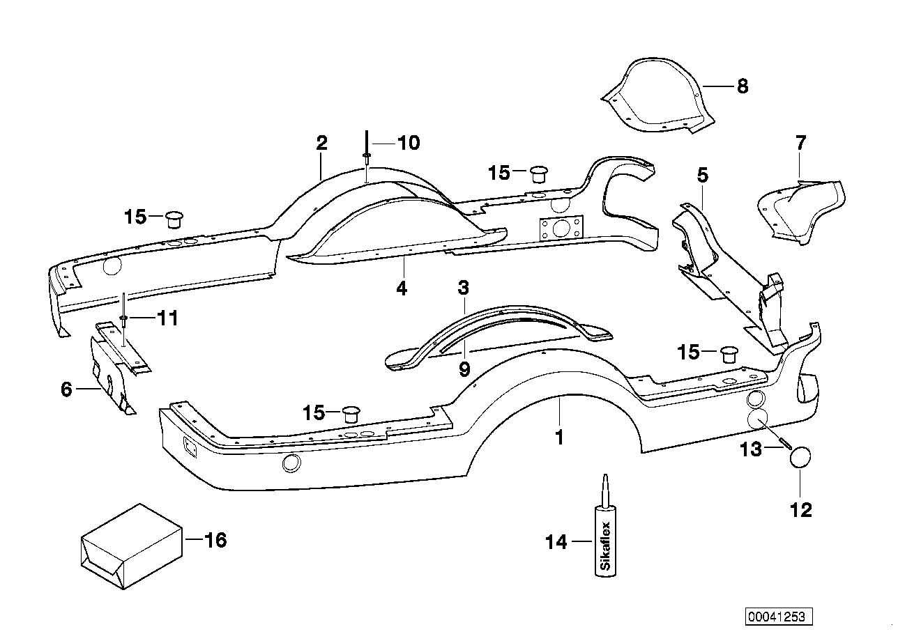 AM33 Trailer, individual parts, plastic parts 03_3814