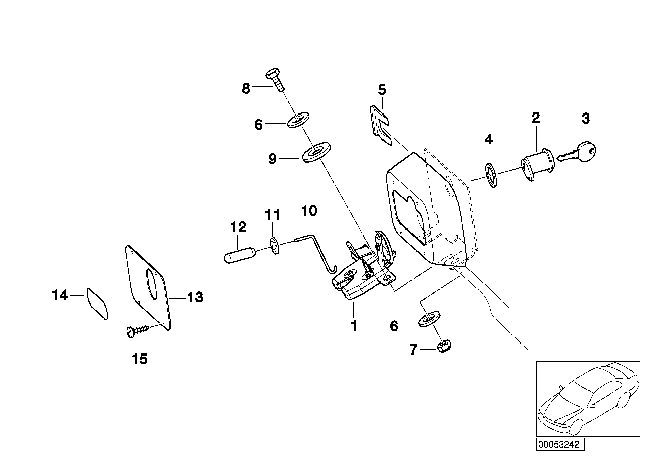 AM33 Hood parts, doors/locking system 03_3844