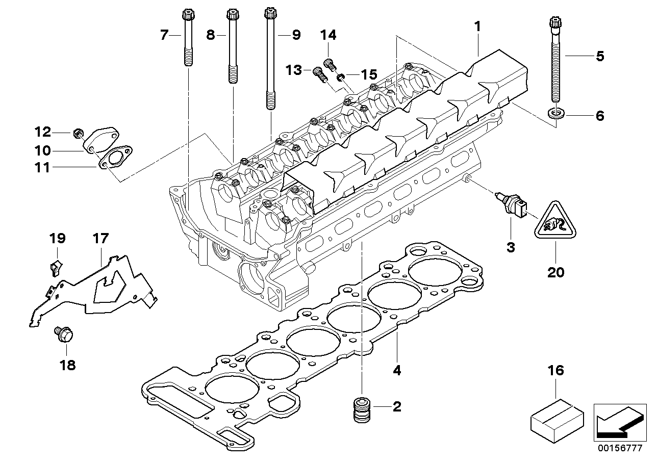 AV13 Cylinder Head Attached Parts-11_2169
