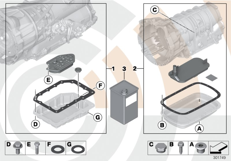 AM33 Fluid-change kit, autom. transmission 24_1371