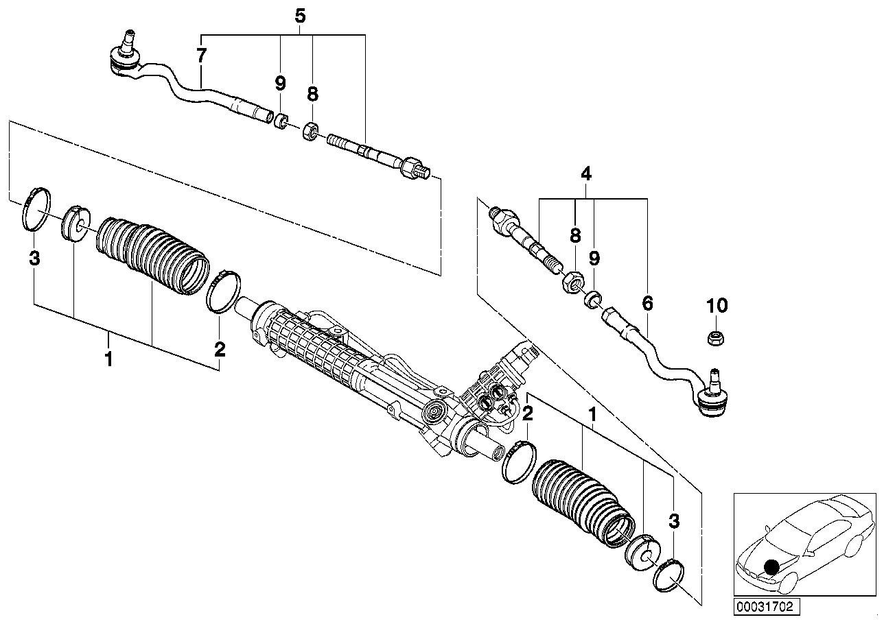 AM33 Steering linkage/tie rods 32_0940