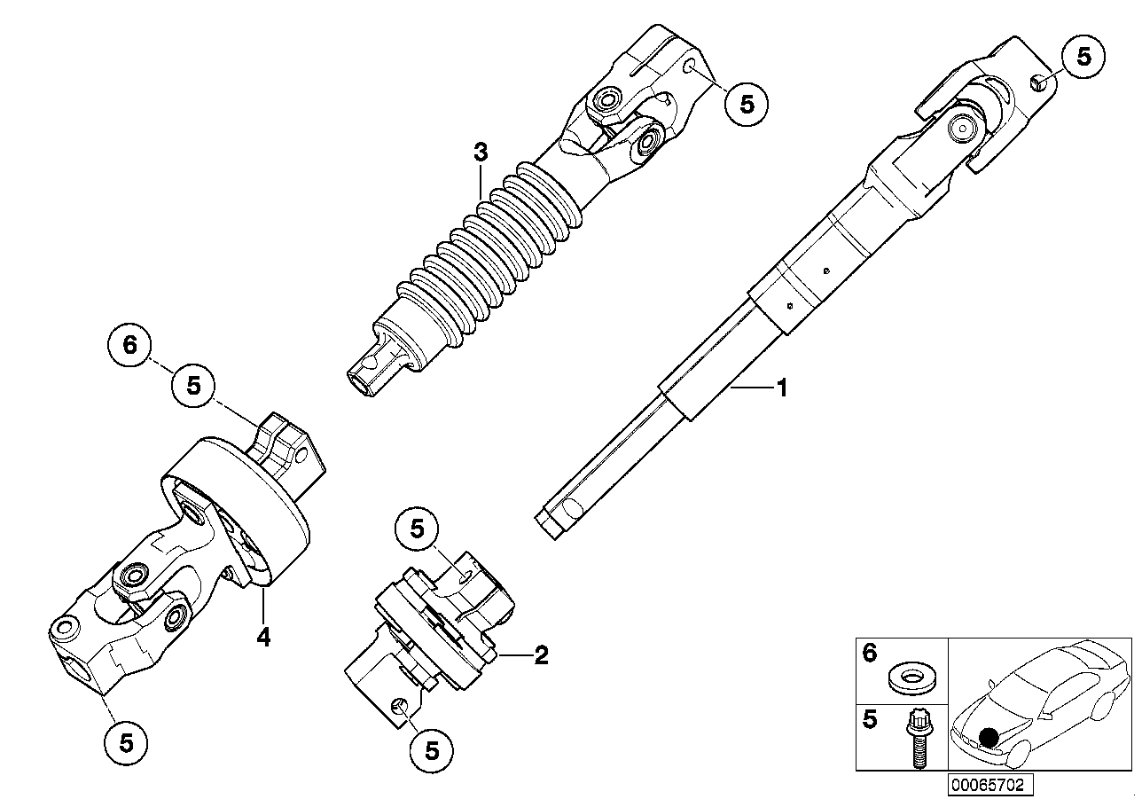AM33 Steer.col.-lower joint assy 32_0942