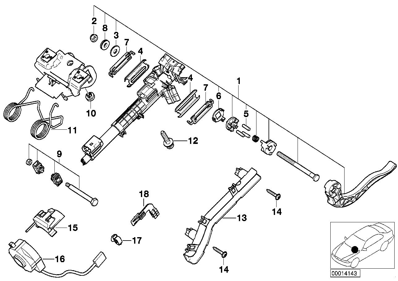 AM33 Steering column-adjustable/single parts 32_0943