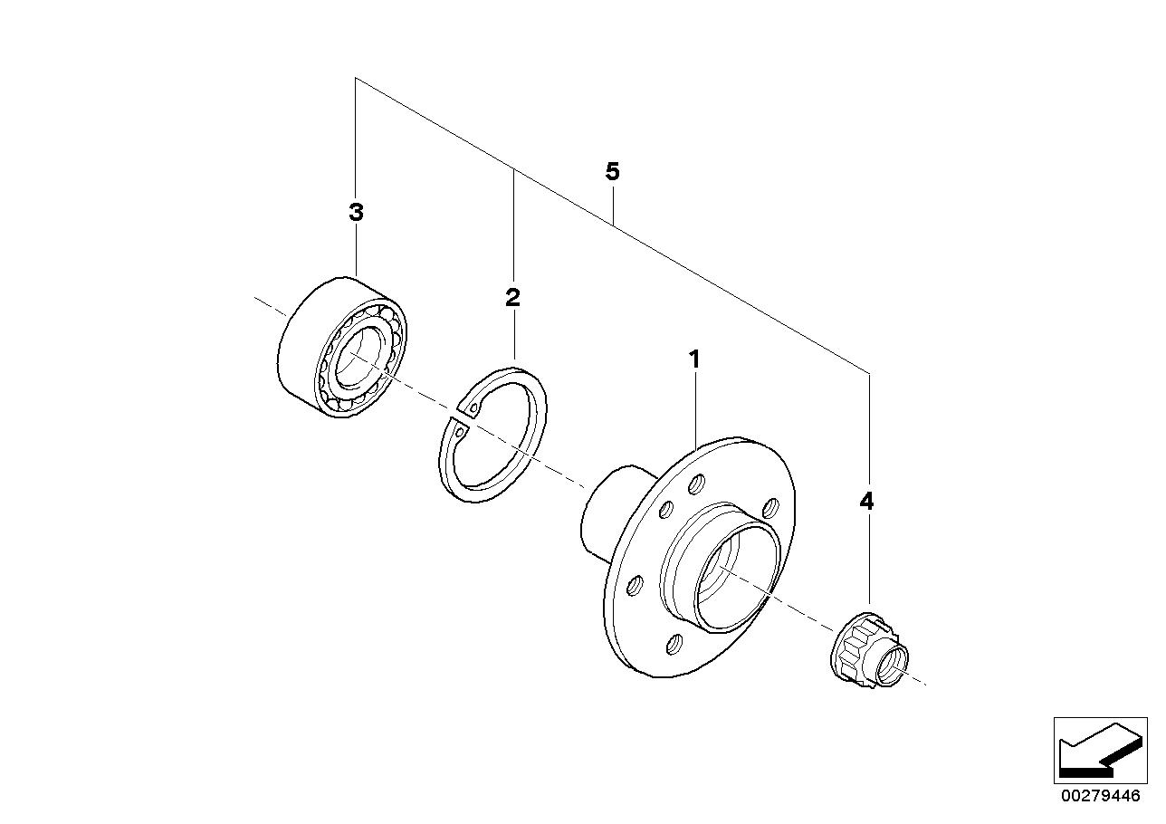 AM33 Side shaft/wheel bearings 33_0838