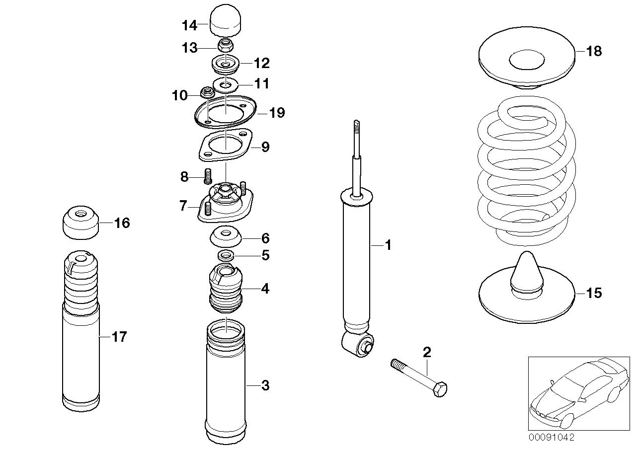 AM33 Rear spring strut mounting parts 33_0841