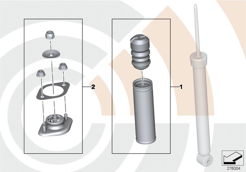 AM33 Repair kits, shock absorber rear 33_1669