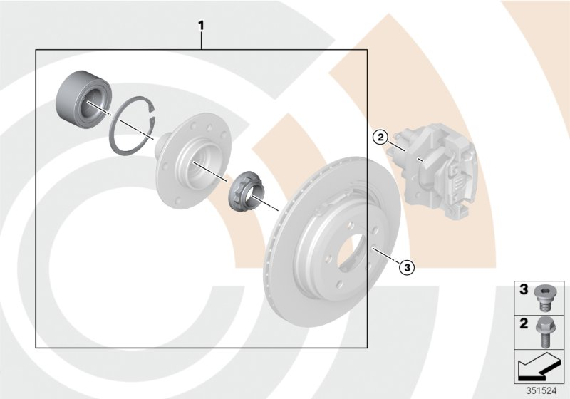 AM33 Kit, wheel bearing, rear / Value Line 33_1670