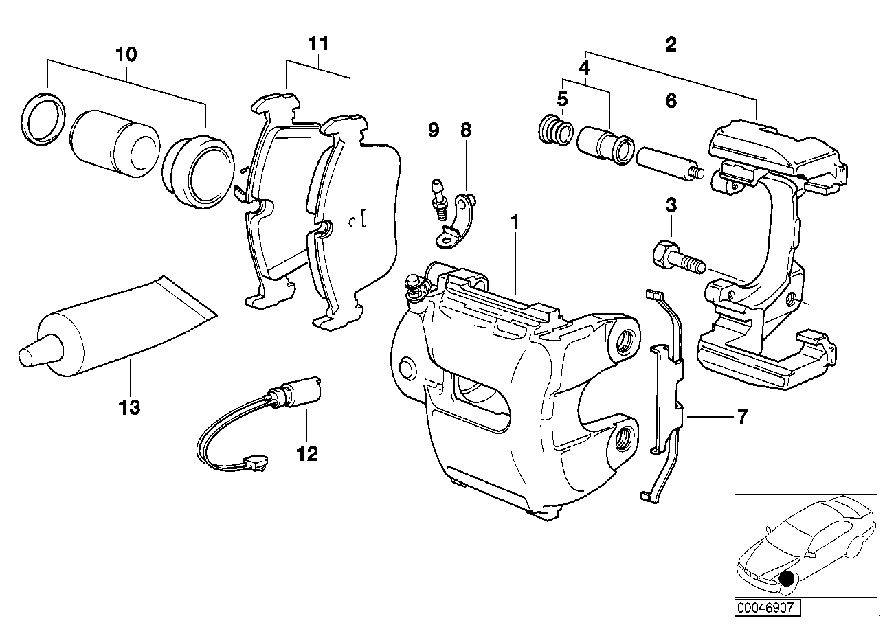 AM33 Front brake pad wear sensor 34_0757