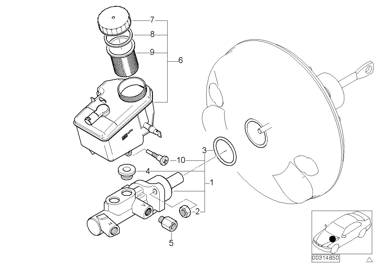 AM33 Brake master cylinder/expansion tank 34_0764