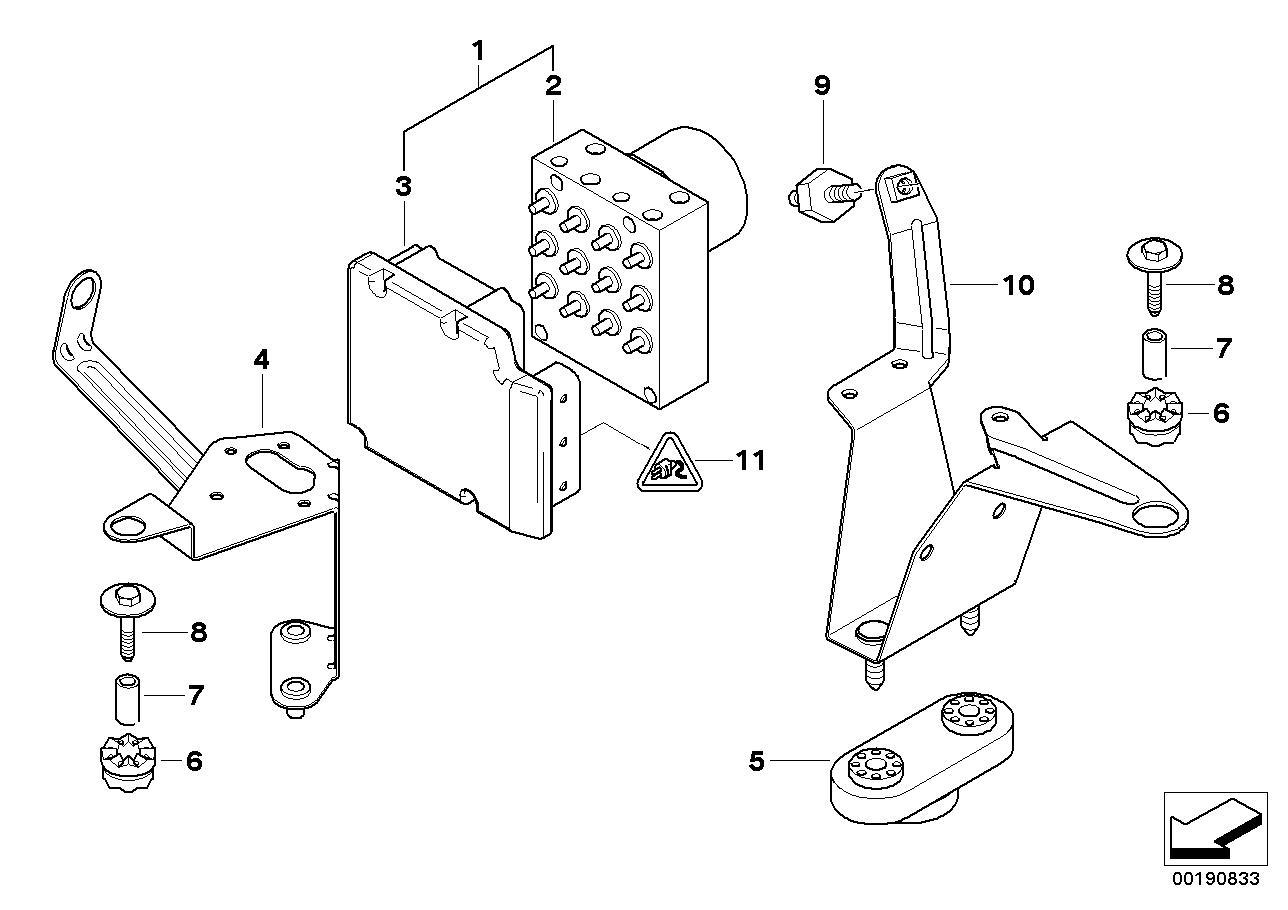 AM33 Hydro unit DSC/control unit/fastening 34_0780