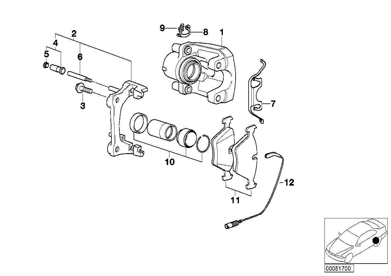 AM33 Rear brake / brake pad / wear sensor 34_1013