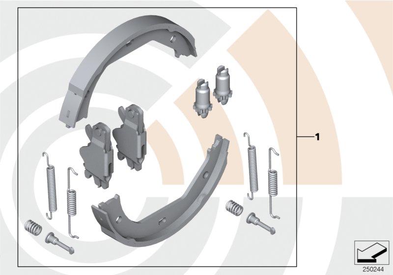 AM33 Service Kit for brake shoes / Value Line 34_1964