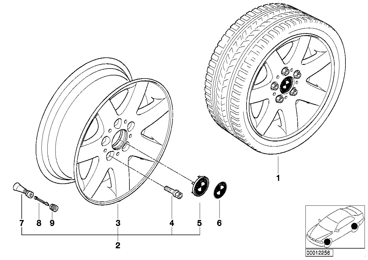 AM33 BMW light-alloy wheel star spokes 45 36_0344