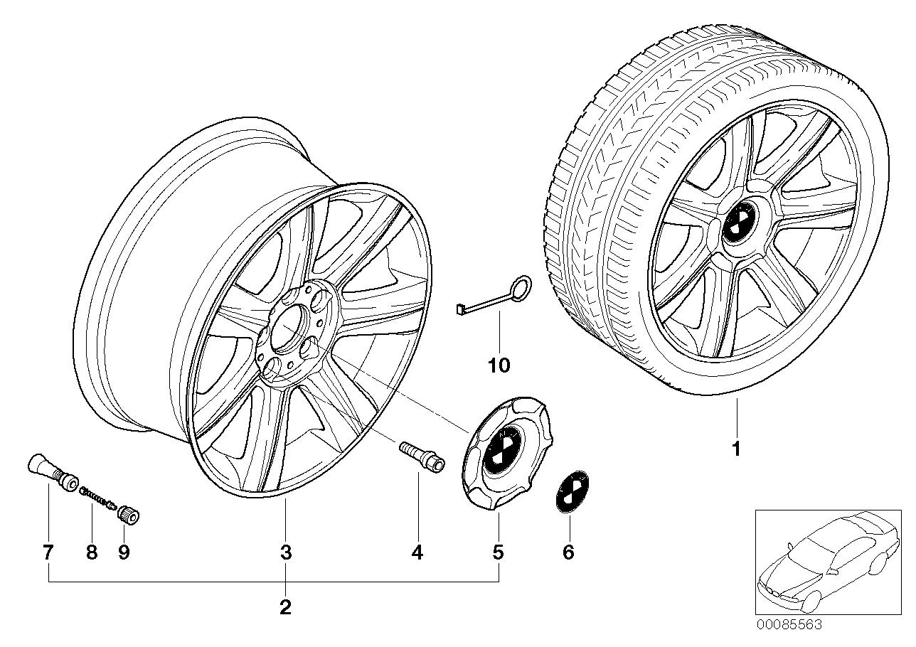 AM33 BMW LA wheel, star spoke 96 36_0500