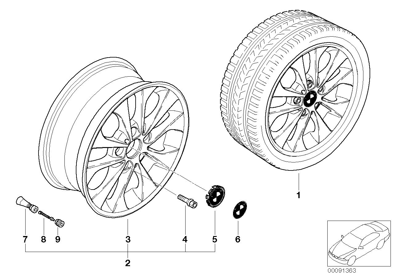AM33 BMW LA wheel, double spoke 98 36_0605