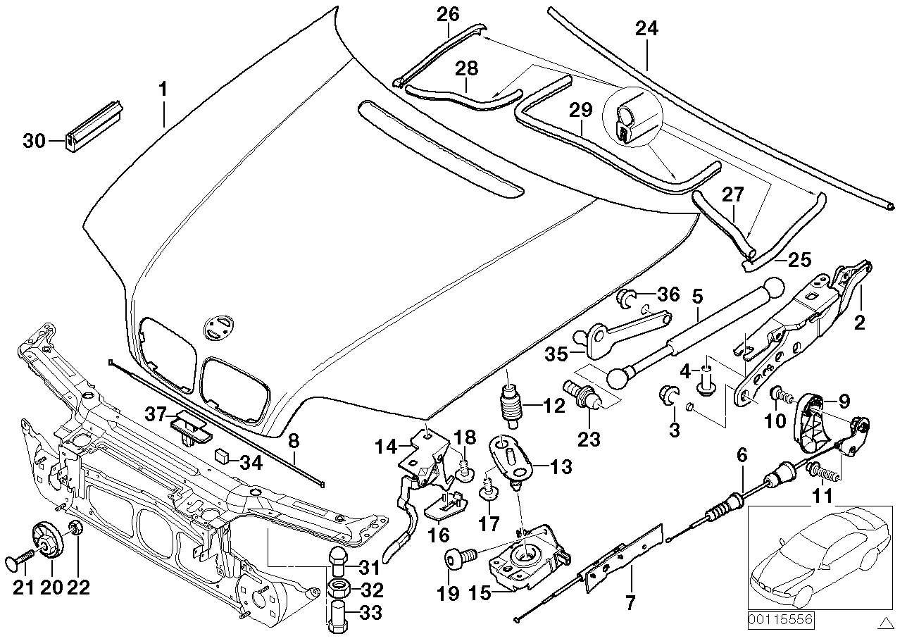 AM33 Engine hood/mounting parts 41_1099