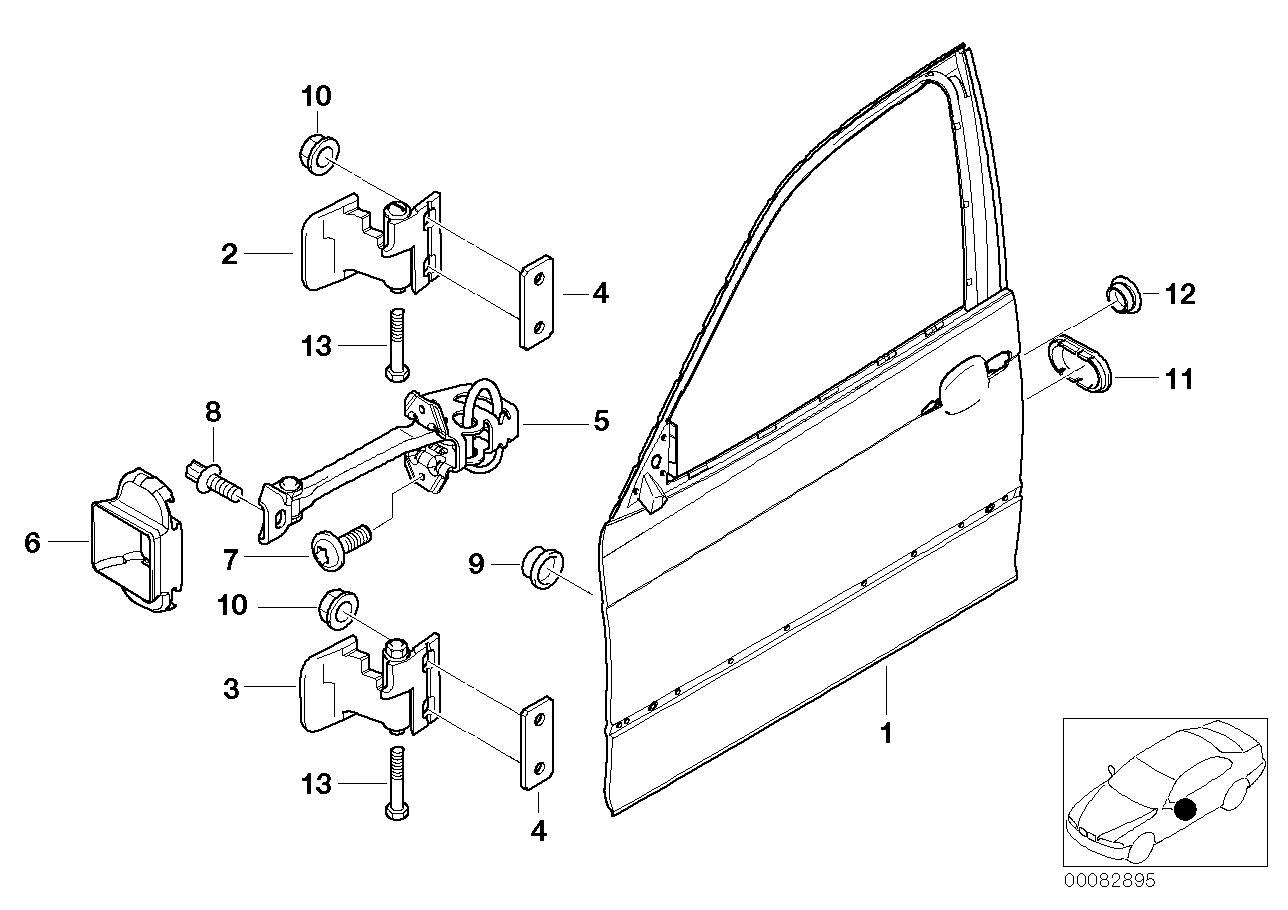 AM33 Front door-hinge/door brake 41_1101