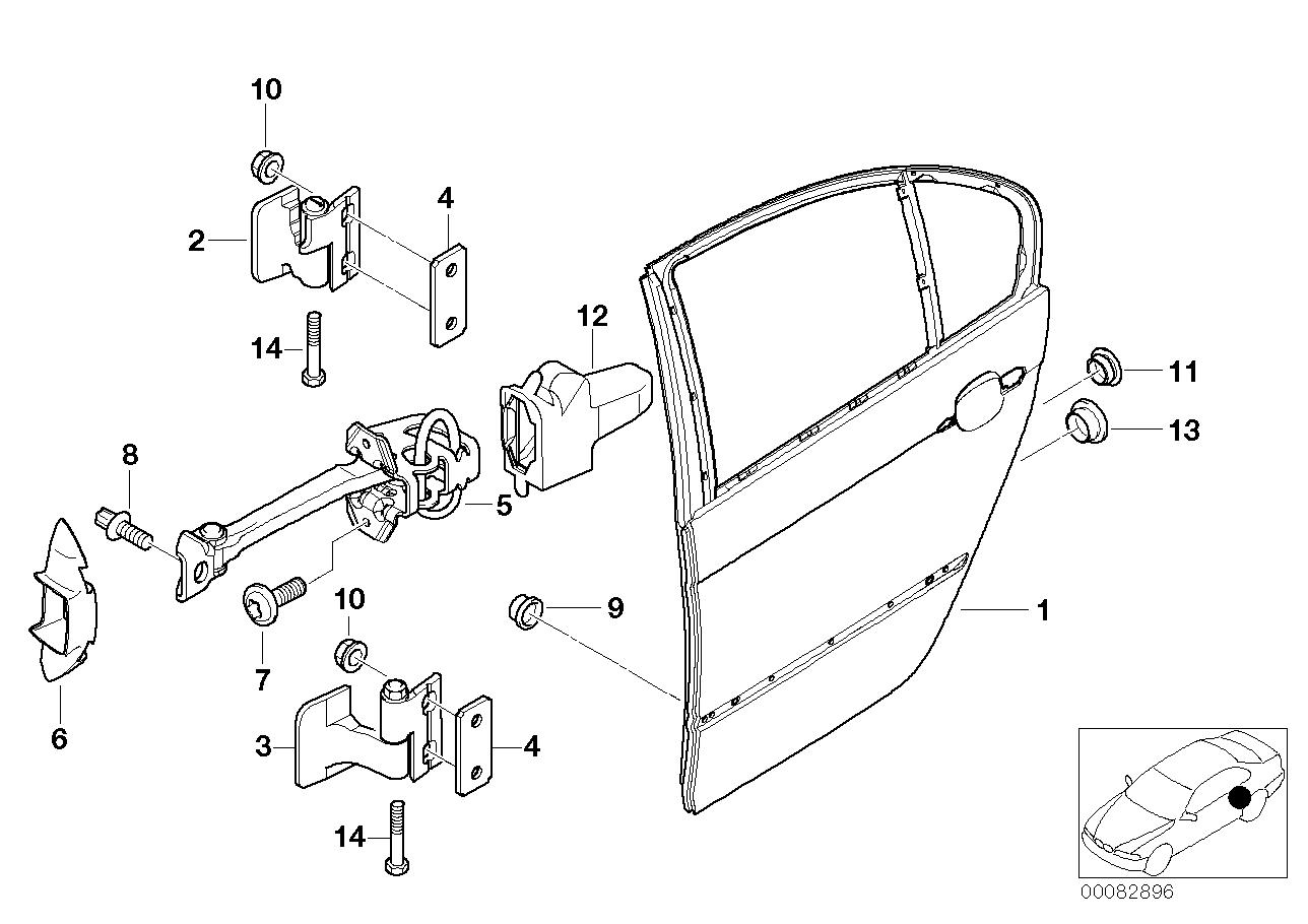 AM33 Rear door – hinge/door brake 41_1102