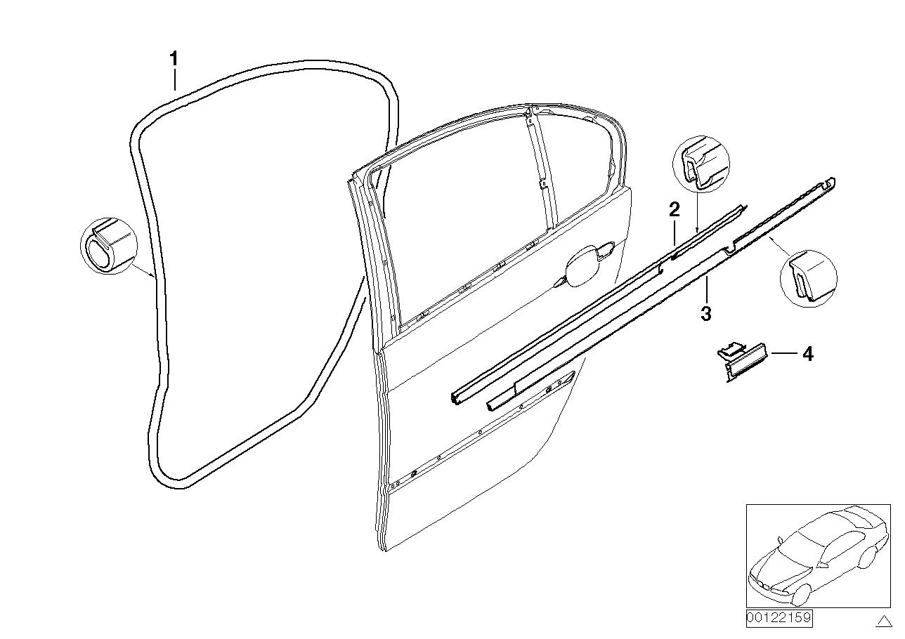 AM33 Door weatherstrip rear 41_1110