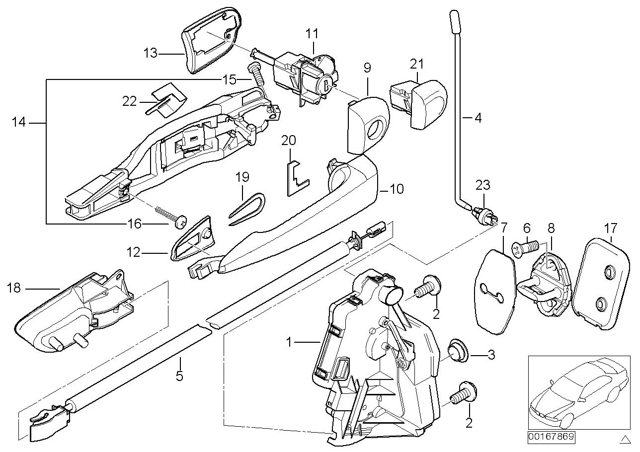 AM33 Door mechanism front (up to 09/00) 41_1111