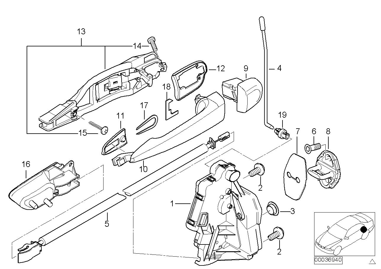 AM33 Door mechanism rear (up to 09/00) 41_1112