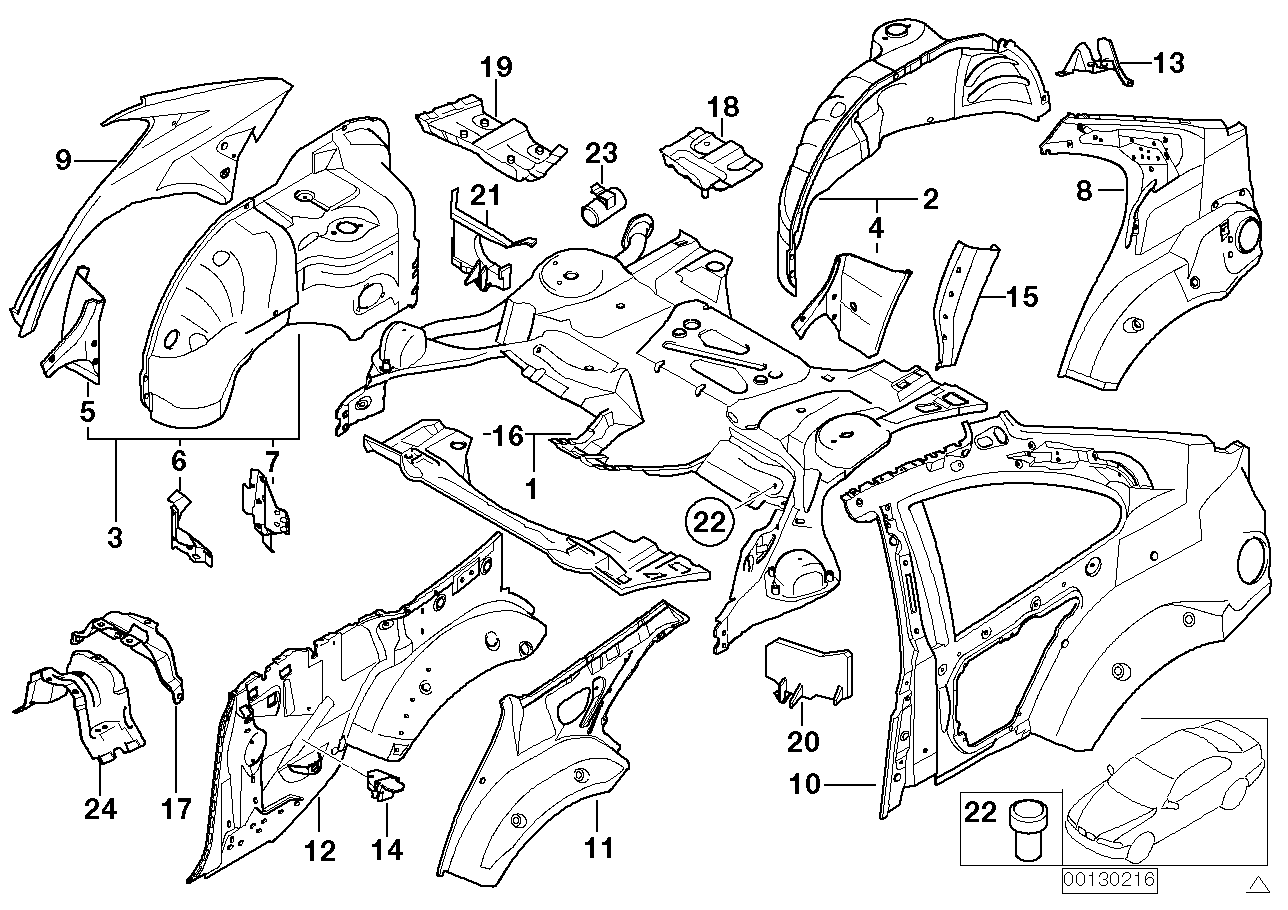 AM33 Rear wheelhouse/floor parts 41_1267