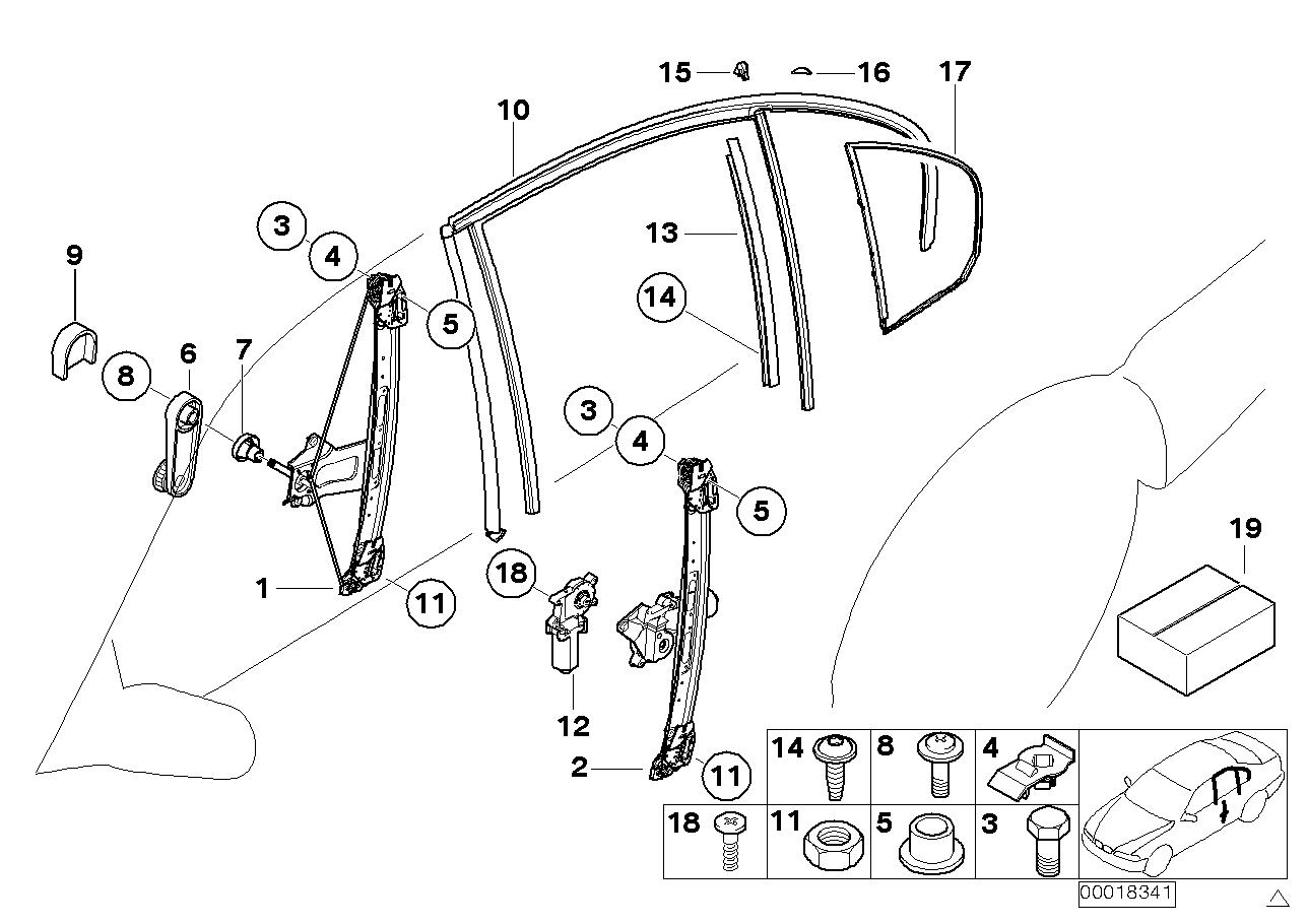 AM33 Door window lifting mechanism rear 51_3227