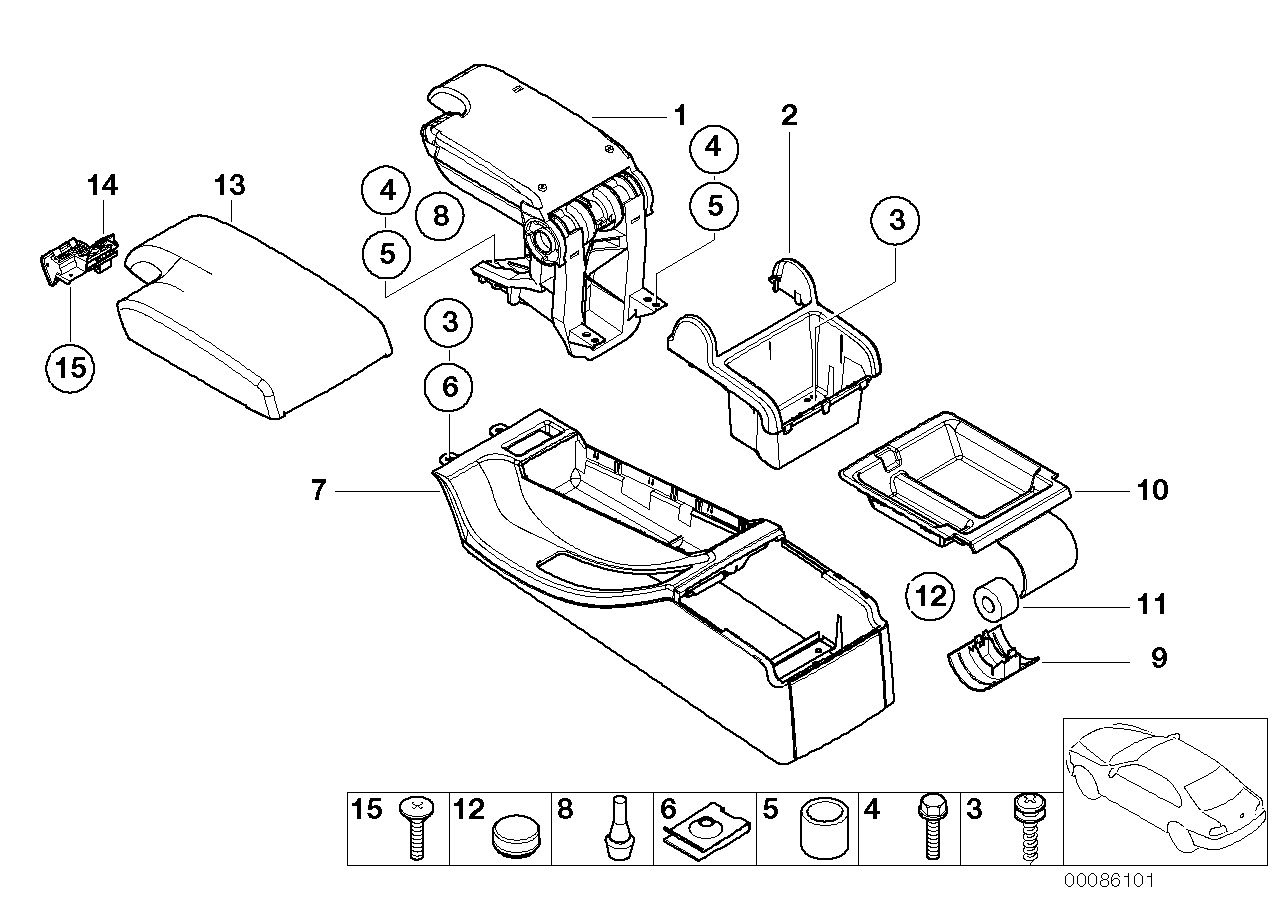 AM33 Center Console/armrest,support,trim Pan.-51_3242