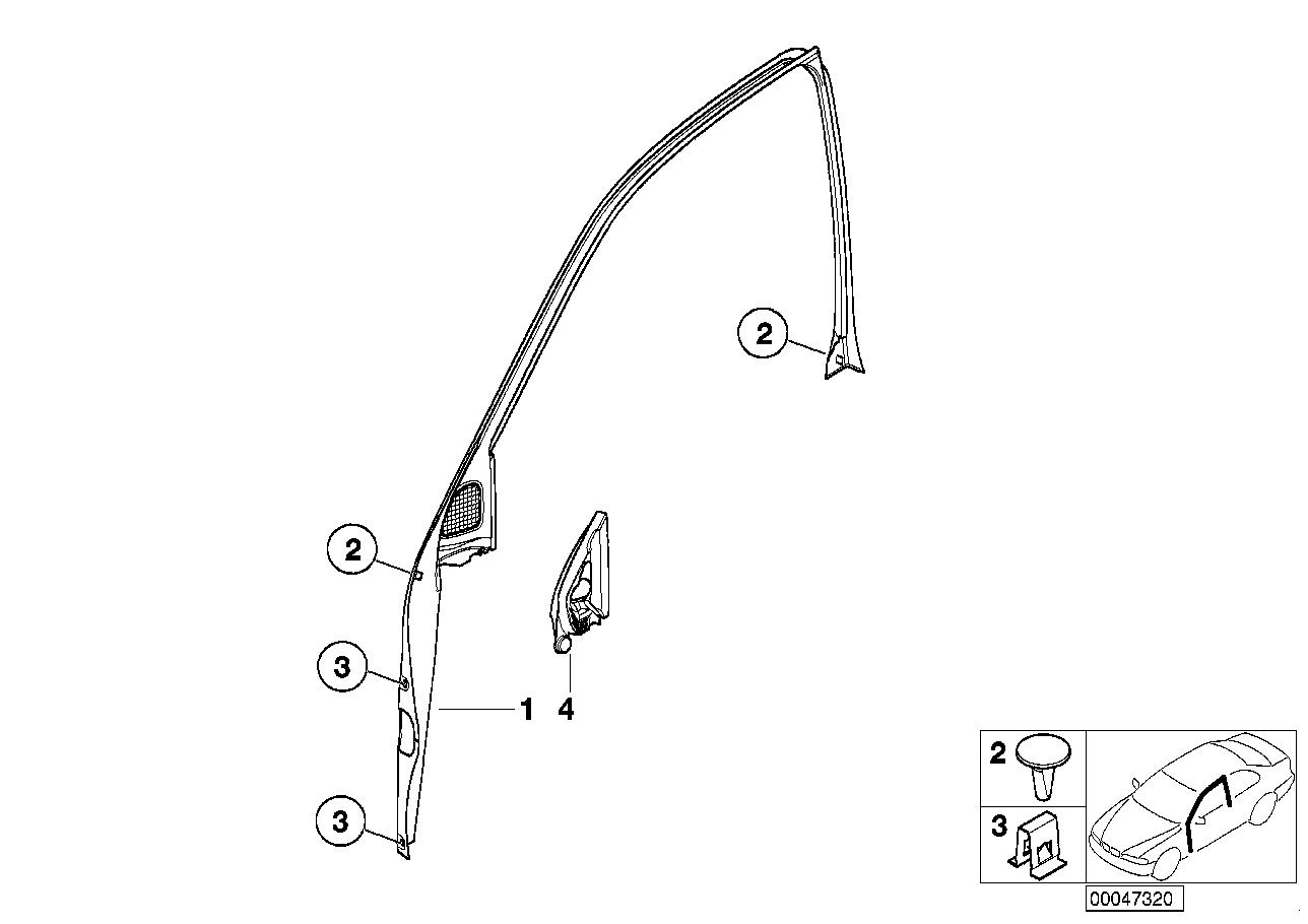 AM33 Door window lifting mechanism front 51_3307