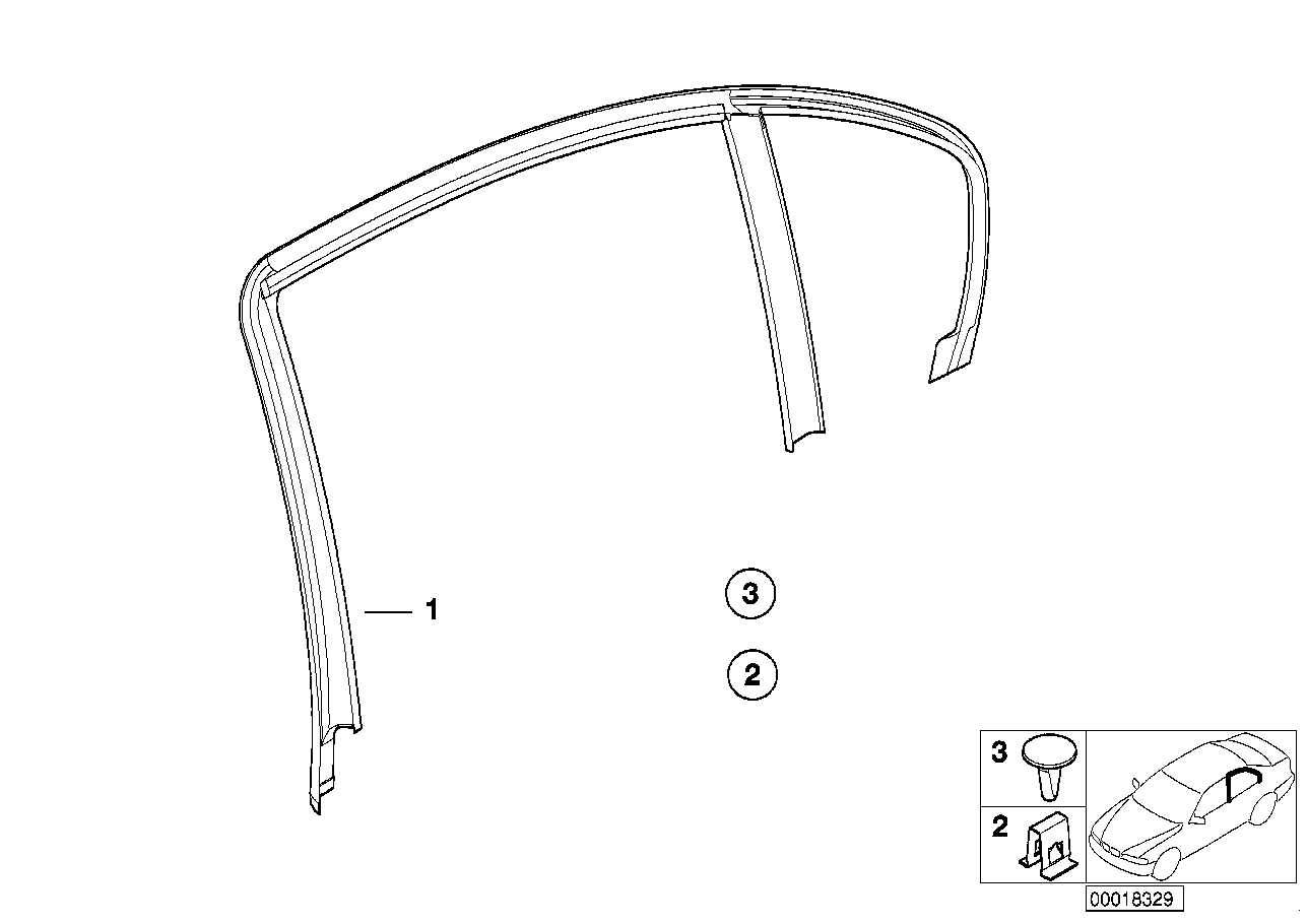 AM33 Trim and seals for door, rear 51_3309
