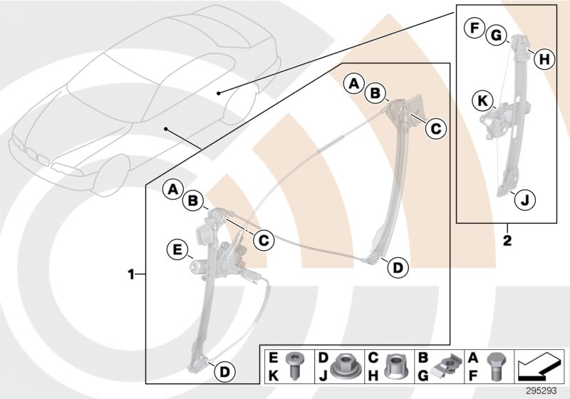 AM33 Mounting hardware kit, power window 51_8832