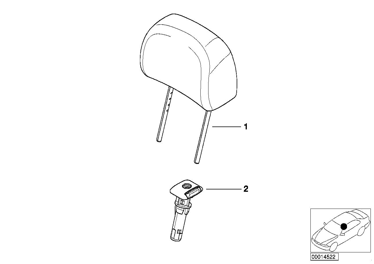 AM33 Seat, front, head restraint, base seat 52_2283