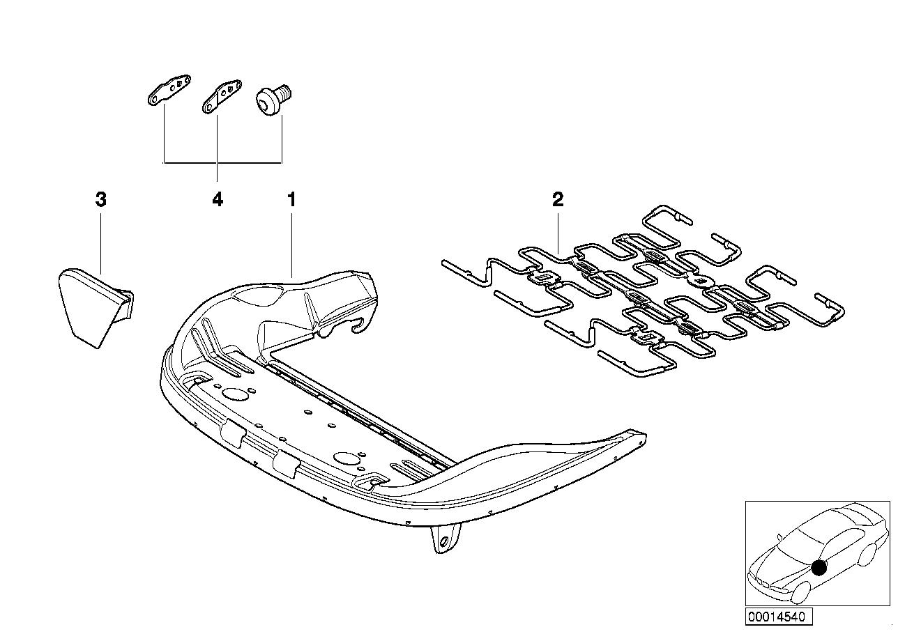 AM33 Front seat frame mech./el./singl.parts 52_2285
