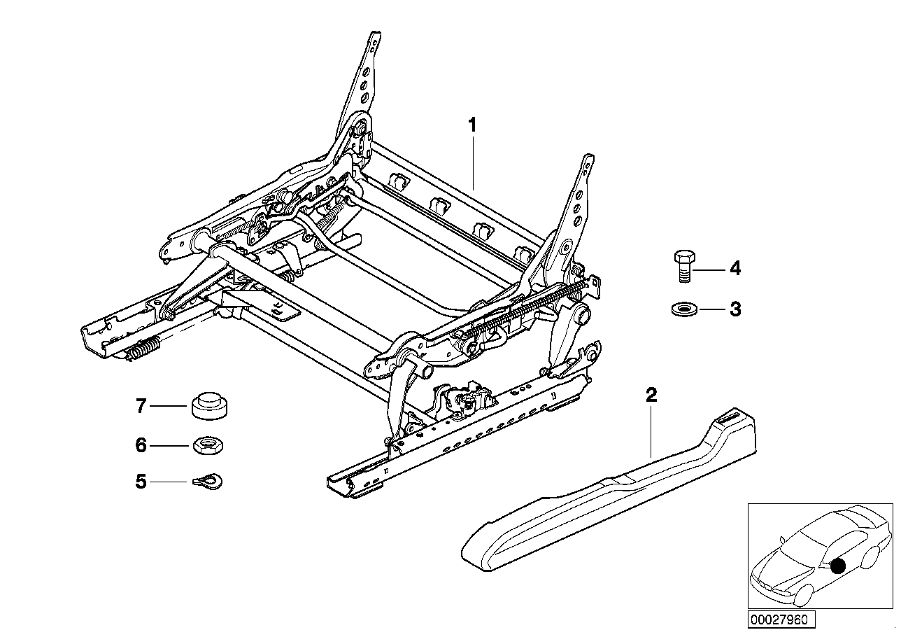 AM33 Front seat rail 52_2306