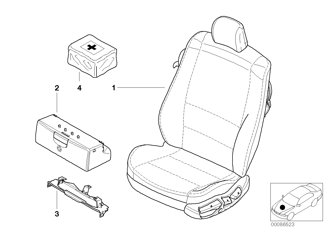 AM33 Seat, front, complete seat 52_2309