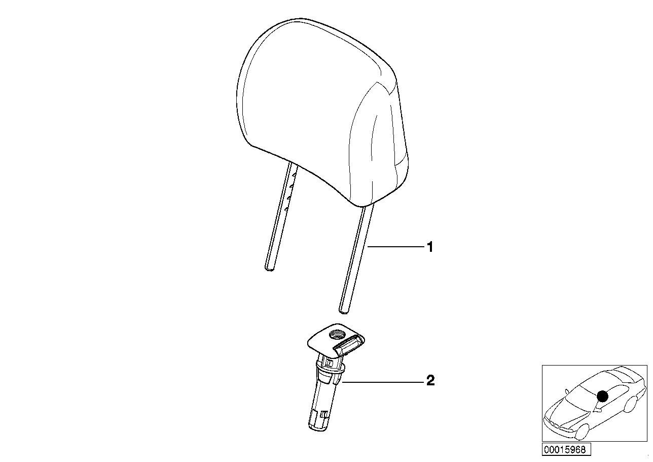 AM33 Seat, front, head restraint, Sport seat 52_2311
