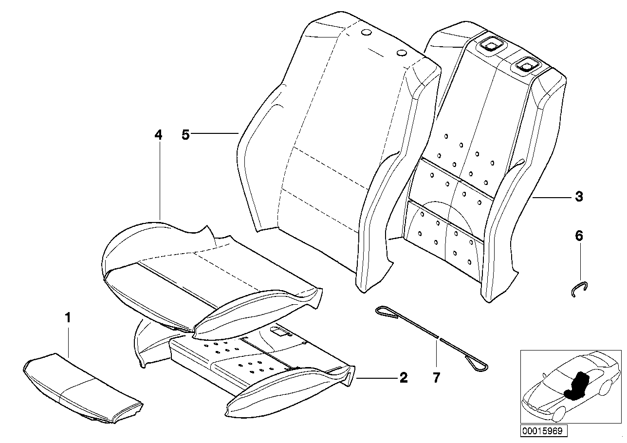 AM33 Seat, front, uphlstry, cover, Sport seat 52_2312