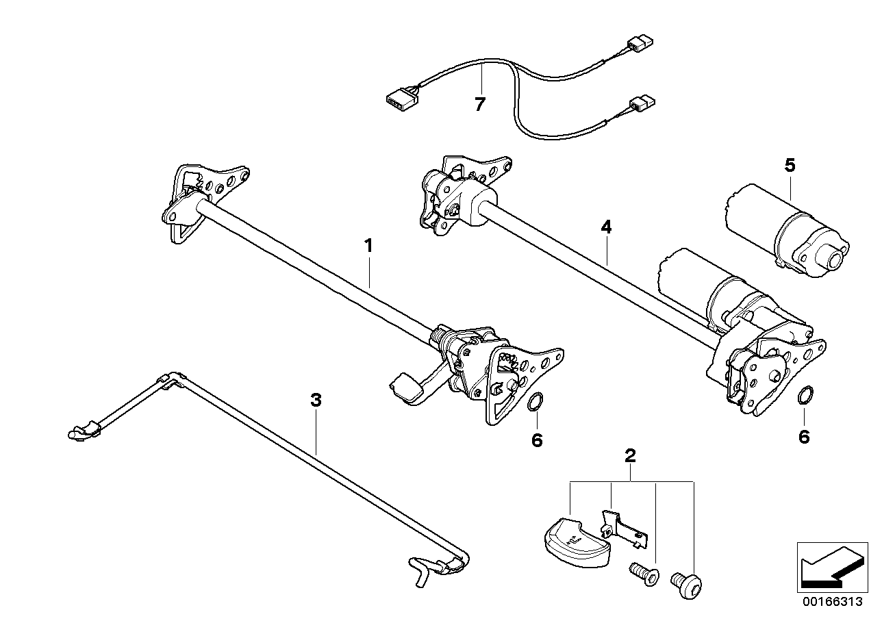AM33 Seat, front, tilt adjustment 52_2314