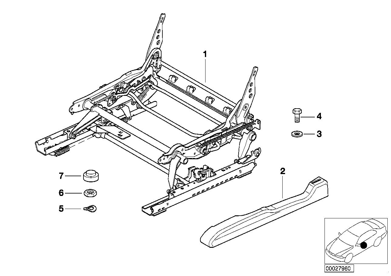 AM33 Front seat rail 52_2317