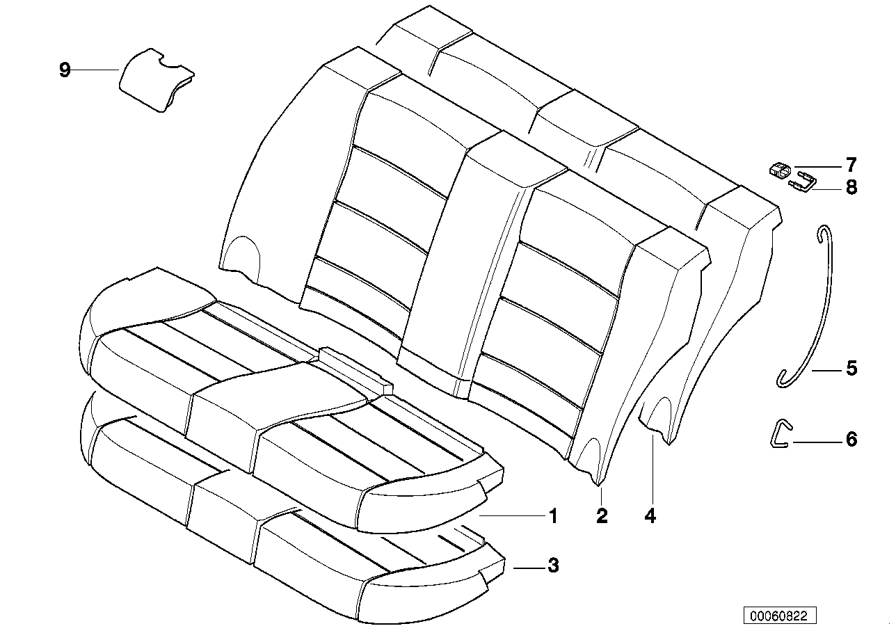AM33 Seat rear, upholstery & cover base seat 52_2339