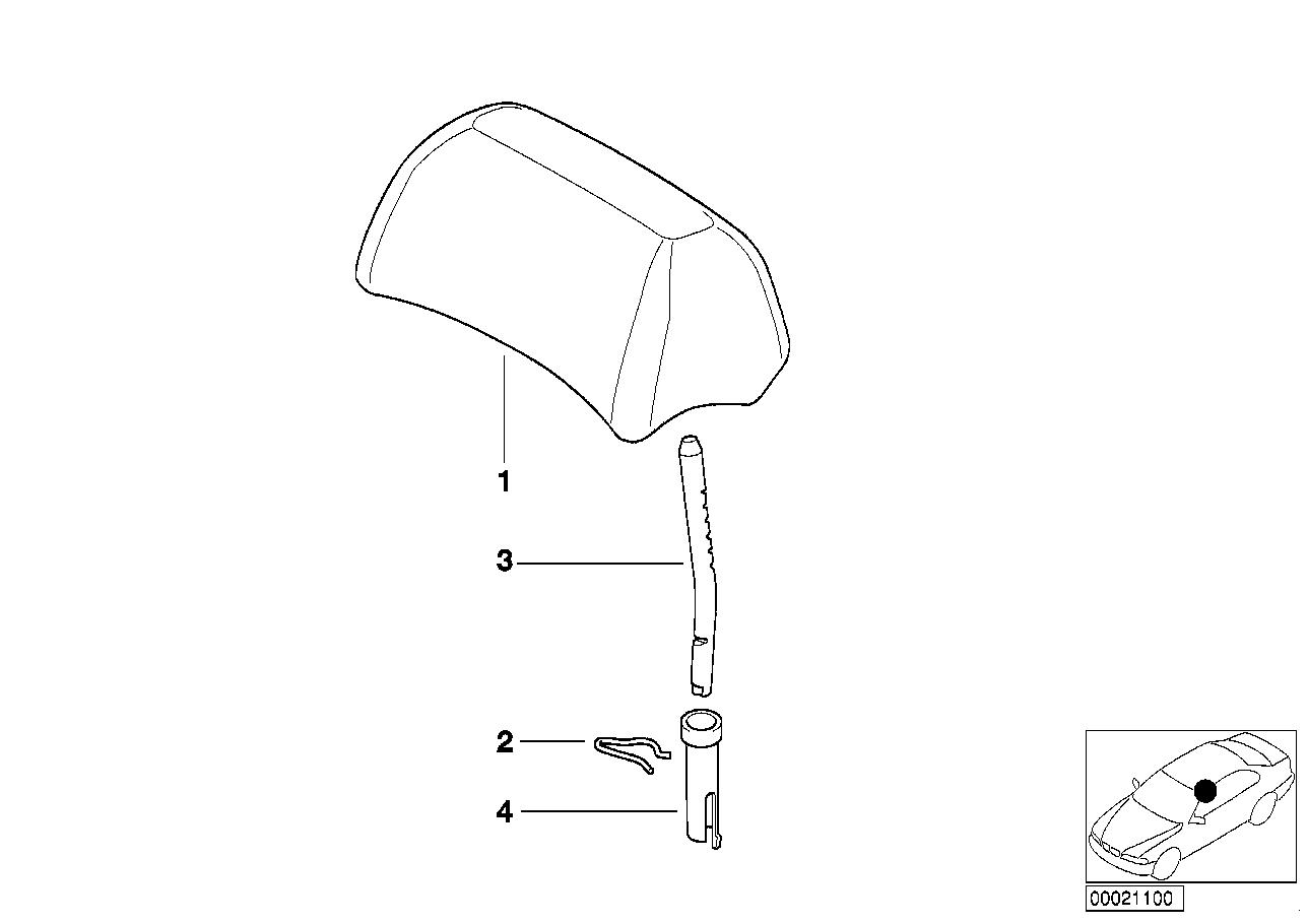 AM33 Rear seat head restraint 52_2377