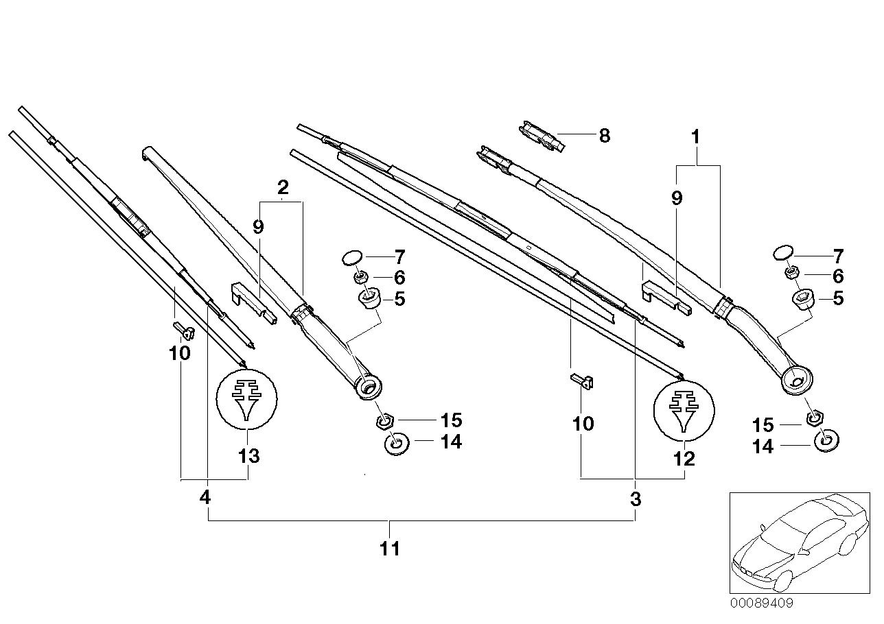 AM33 Wiper arm/wiper blade 61_1065