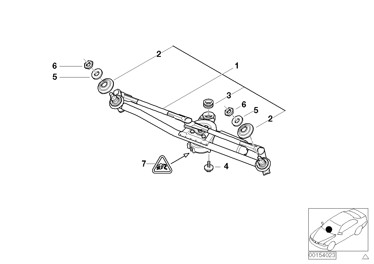 AM33 windshield wiper system, LHD 61_1070