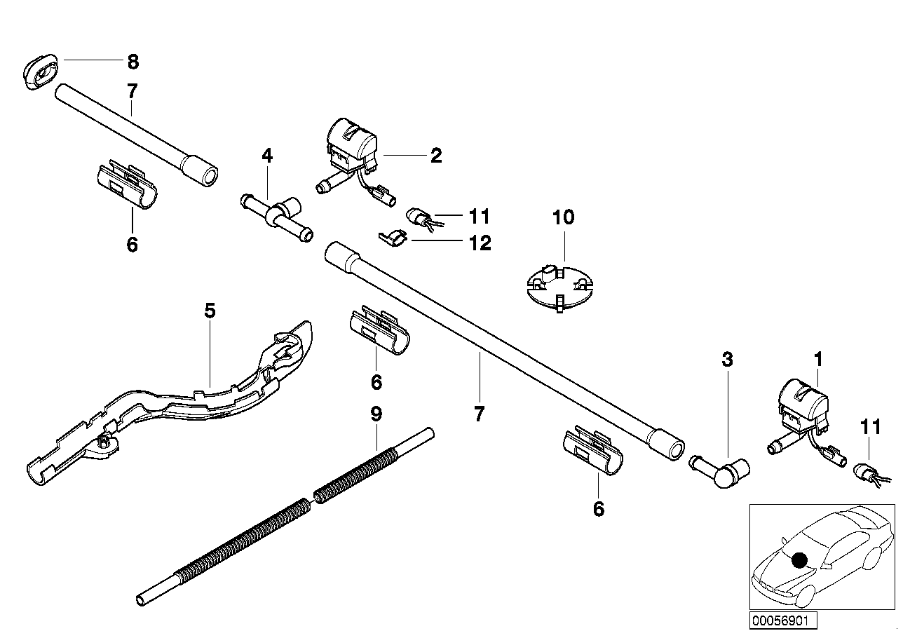 AM33 Single parts for windshield cleaning 61_1085